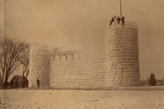 """Ice Castle in Washington Park (1888) is part of the """"Captured Moments"""" exhibit."""