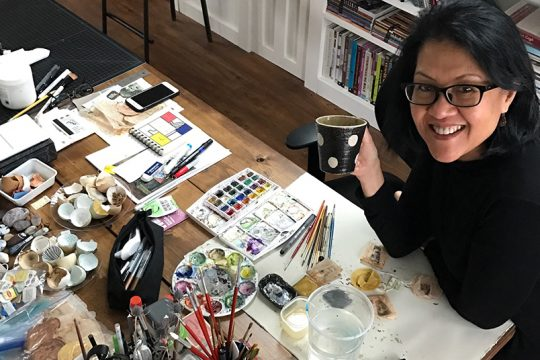 Ruby Silvious in her Coxsackie studio.