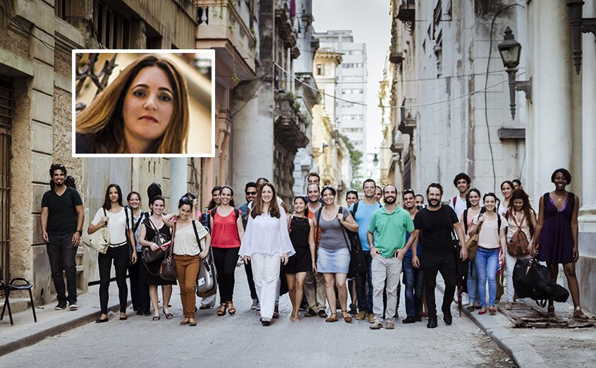 The Havana Lyceum Orchestra with Simone Dinnerstein (inset).