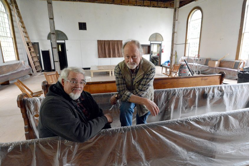 Artistic director Byron Nilsson and Ron Burch, president of the Glen Conservancy Hall.