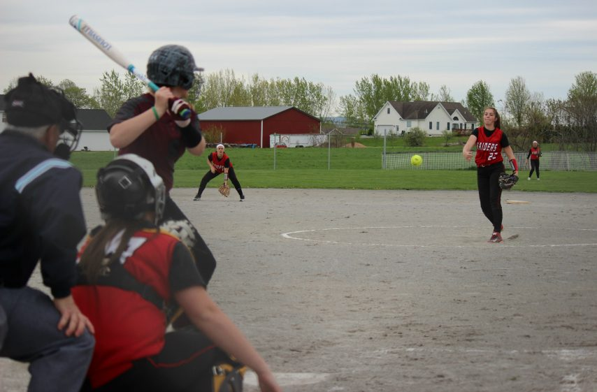 Mechanicville freshman Alivia Wood delivers a pitch in Thursday's Wasaren League softball game against Stillwater.