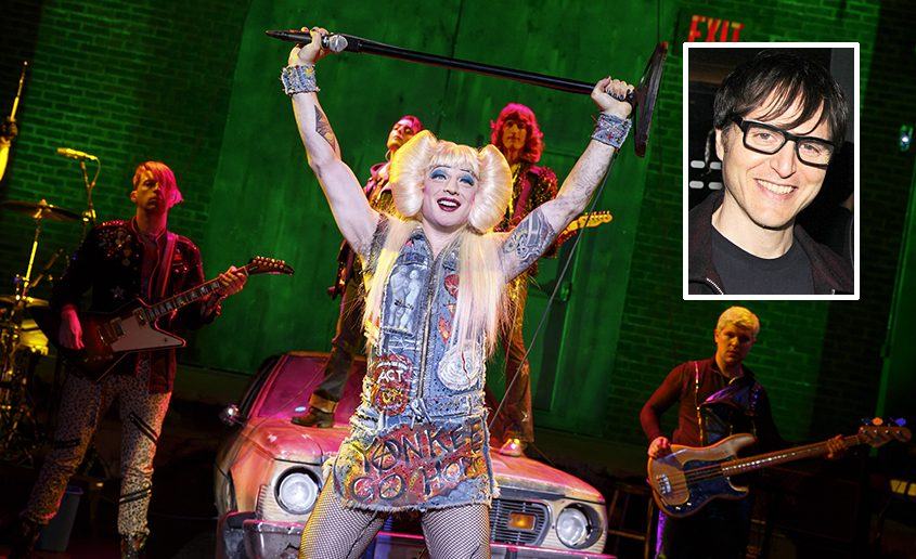 """Euan Morton as Hedwig in """"Hedwig and the Angry Inch."""" Inset: Stephen Trask."""