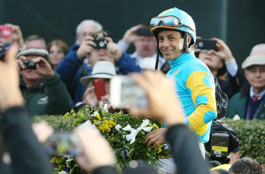 Jockey Victor Espinoza is going for his third Kentucky Derby win in four years, this time aboard Gormley.