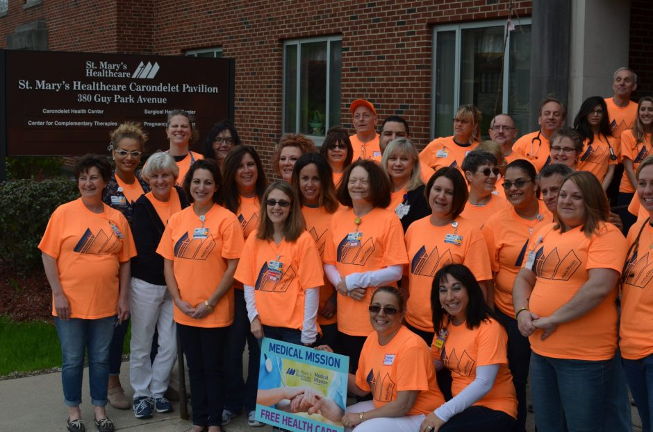 More than 70 St. Mary's Healthcare employees and community members volunteered at Saturday's Medical Mission at Home event.
