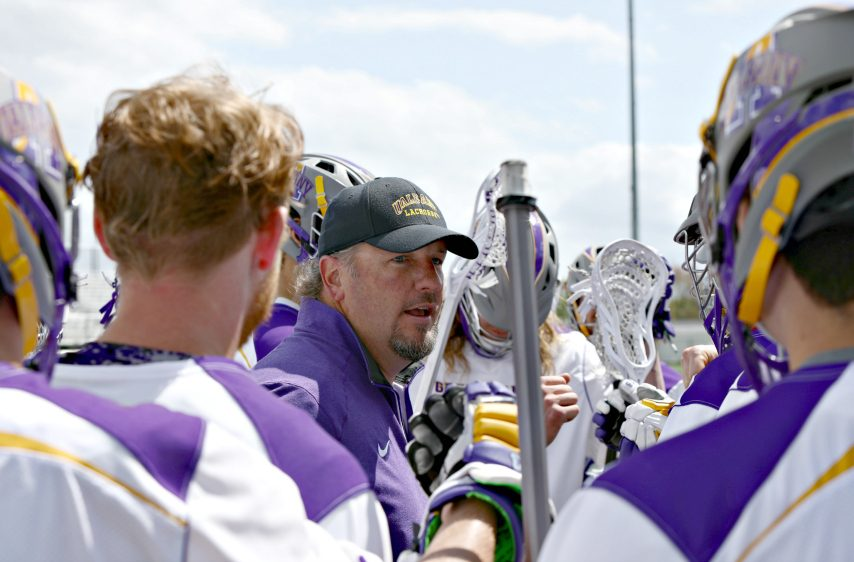 Coach Scott Marr has guided UAlbany men's lacrosse to the NCAAs nine times.