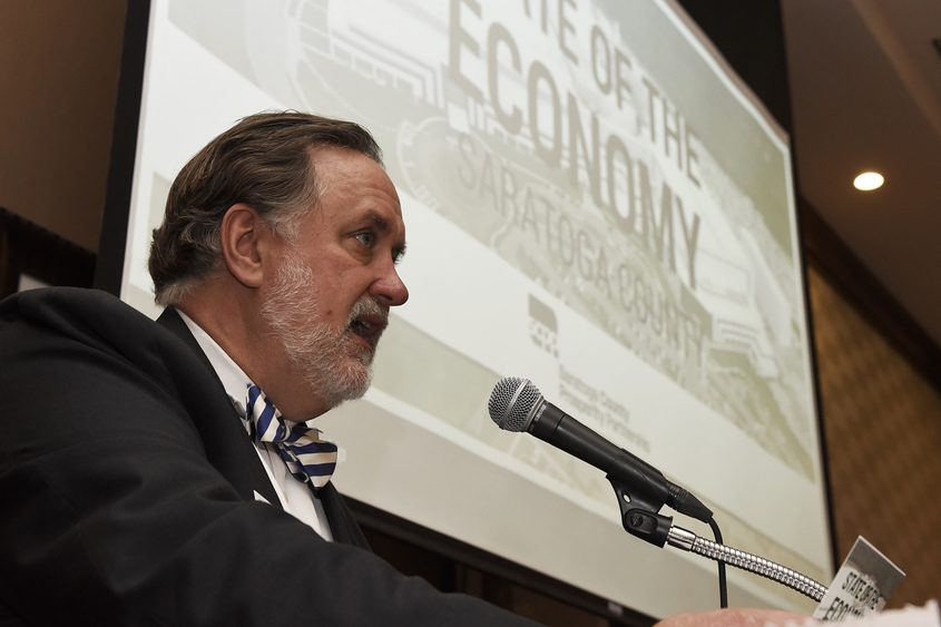 Saratoga County Prosperity Partnership President Marty Vanags talks Tuesday about Saratoga County's economy.