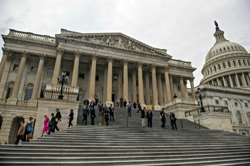 House members outside the Capitol in Washington on May 4, 2017.