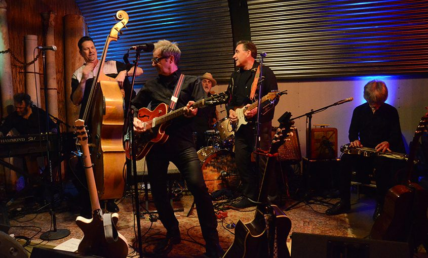Garry Tallent and band at the Hangar last week.