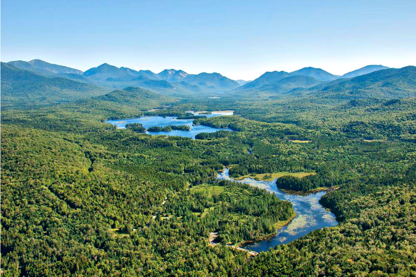 The Boreas Ponds tract in the Adirondacks is seen.
