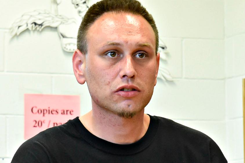 Recovering heroin addict James DeSantis.