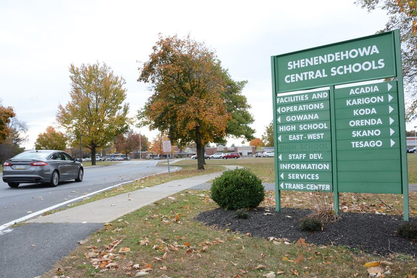 The Shenendehowa Central Schools entrance on Route 146 in Clifton Park.