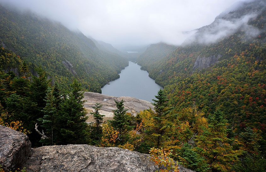 The 5-mile hike to Indian Head in Keene reveals world-class views of Lower Ausable Lake, shown, and several nearby High Peaks.