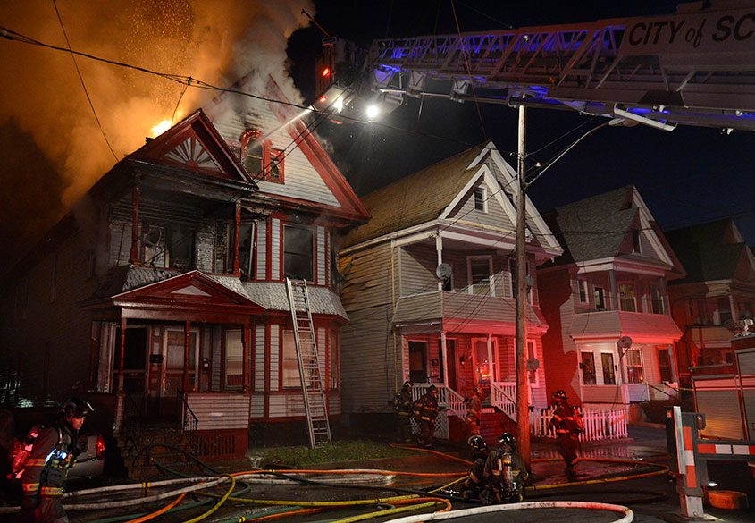 The fatal fire at 428 Hulett Street St. in Schenectady on May 2, 2013.