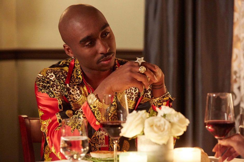 "Demetrius Shipp Jr. stars as rap star Tupac Shakur in ""All Eyez on Me."""