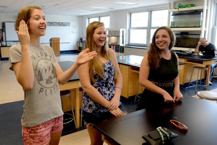 Broadalbin-Perth High School students (from left) Julie Capito, Emily Denman and Madison Fagant are graduating this week.