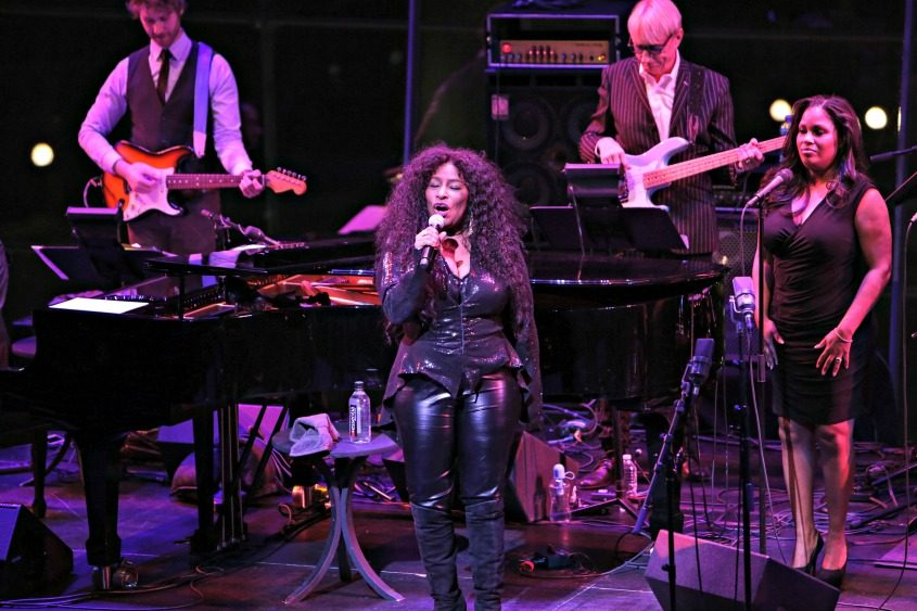 Chaka Khan performs at a benefit concert in January.