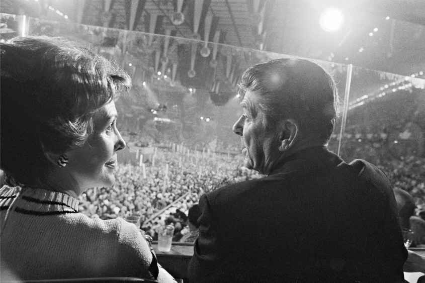 Nancy and Ronald Reagan at the Republican National Convention in Kansas City, Mo., on Aug. 19, 1976.