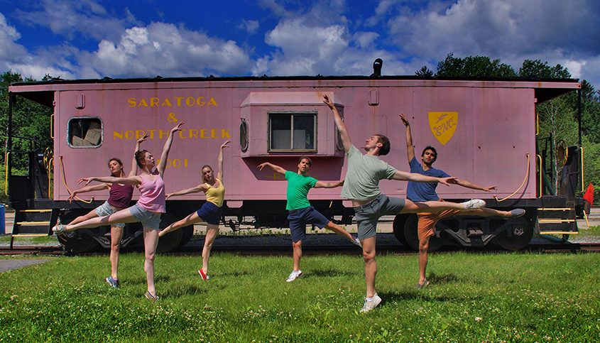 Today's video features a dance performance by New York City Ballet dancers at the Saratoga Train Station.