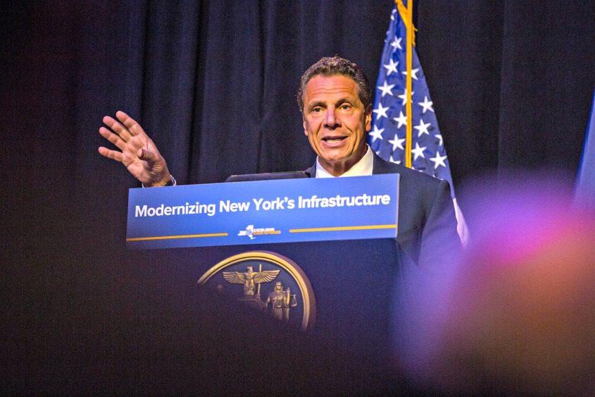 Gov. Andrew Cuomo speaks at City University of New York on May 23, 2017.