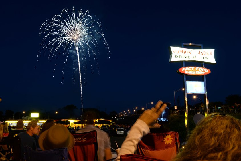 Fireworks at Jumpin' Jack's in Scotia in June 2014.