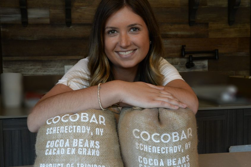 Olivia Mallozzi, 19, will operate the soon-to-open Cocobar at 433 State St. in Schenectady.