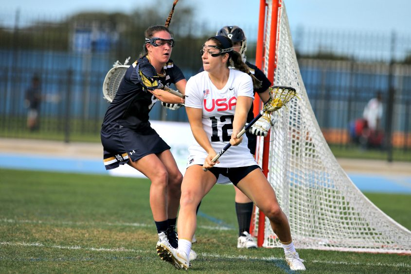 Niskayuna native Kayla Treanor (foreground) will play for the U.S. women's lacrosse team in this month's World Cup.