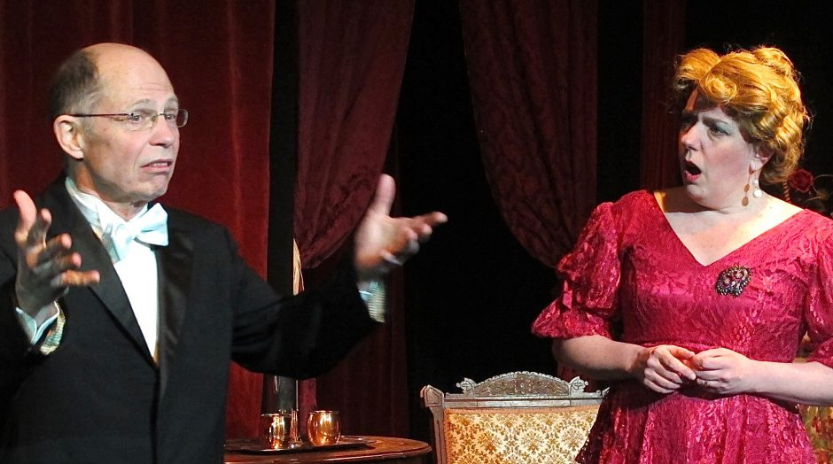 """Jay Kerr and Alison Davy star in Fort Salem's """"Souvenir: The Florence Foster Jenkins Musical."""""""