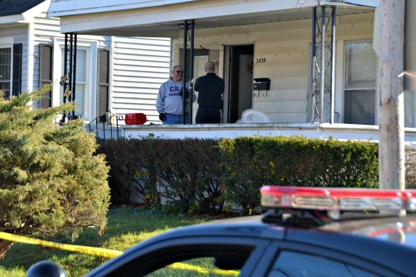 Investigators at 2436 Campbell Ave. in Schenectady, where police said they found Charles Dembrosky dead in November.