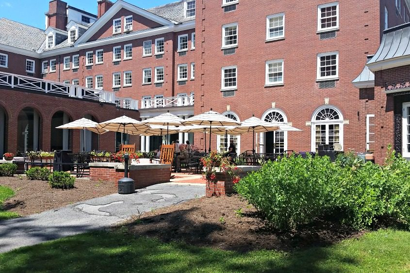 The patio at Putnam's Restaurant and Bar in Saratoga Springs.