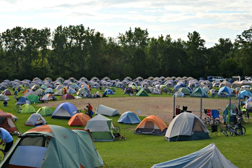 Hundreds of tents at the Jewish Community Center in Niskayuna on Saturday housed 650 bicyclists.