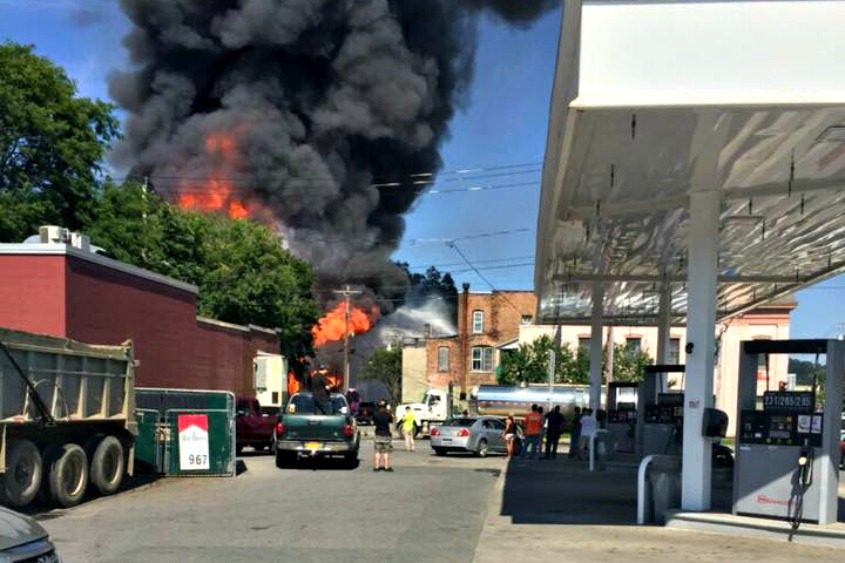fonda blaze destroys mancini motors the daily gazette the daily gazette