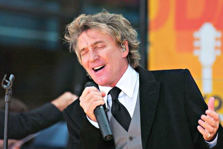 Rod Stewart performs in 2004.