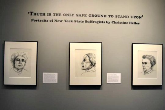 "The exhibit ""Truth is the Only Safe Ground to Stand Upon"" is on view at the Arkell Museum in Canajoharie."