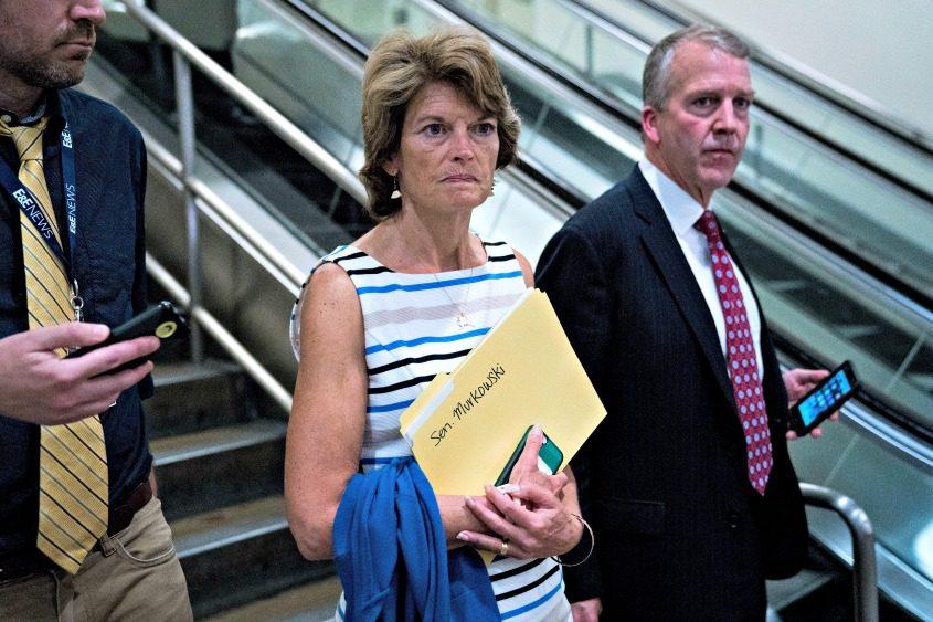 Sen. Lisa Murkowski on Capitol Hill in Washington.