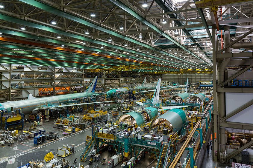 A Boeing plant where jets are assembled in Seattle, Dec. 4, 2015.