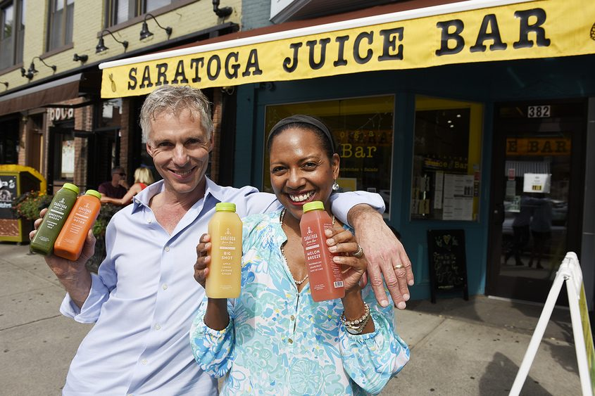 Saratoga Juice Bar owners Colin and Christel MacLean.