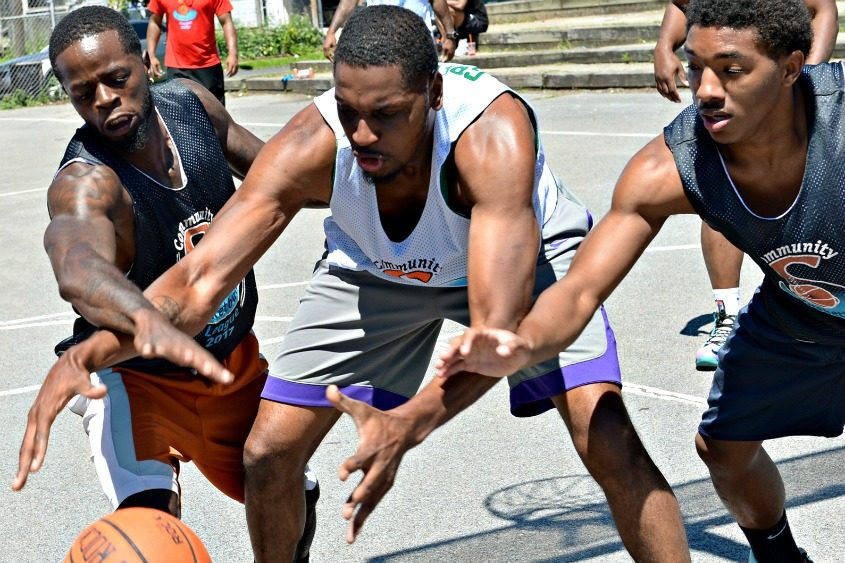 The Books and Ballin' community event was held Sunday at Jerry Burrell Park.