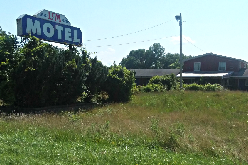 The abandoned L & M Motel in Rotterdam is to be demolished and a solar array built in its place.