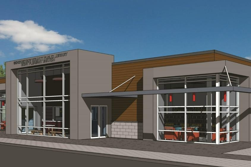 A rendering of the new library in the Mont Pleasant neighborhood.