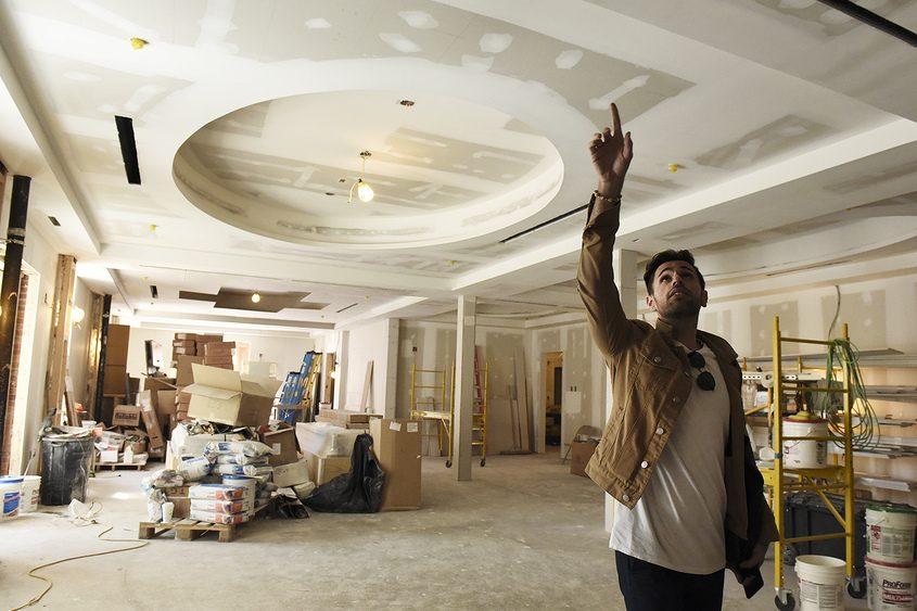 Ivan Jorge Tamayo, Adelphi Hotel director of sales and marketing, describes the ballroom.