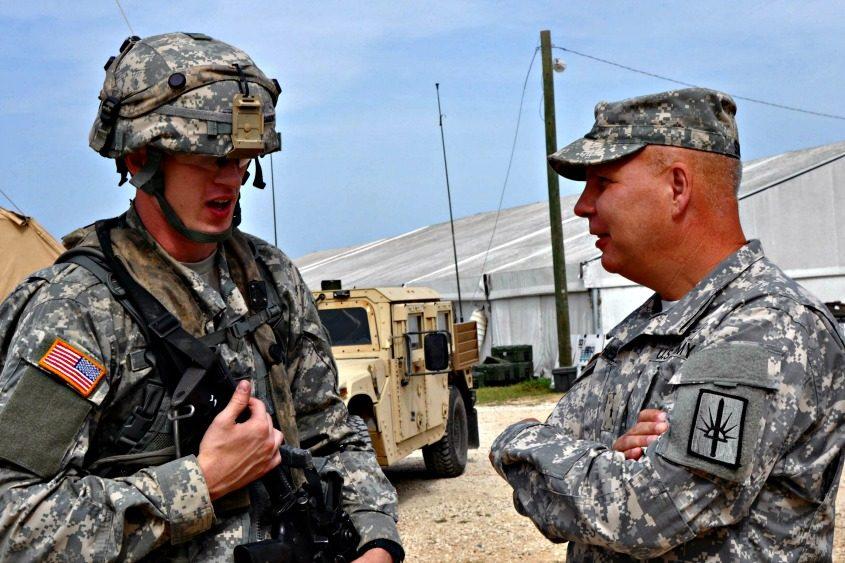 New York Army National Guard Commander Brig. Gen. Raymond Shields (right).