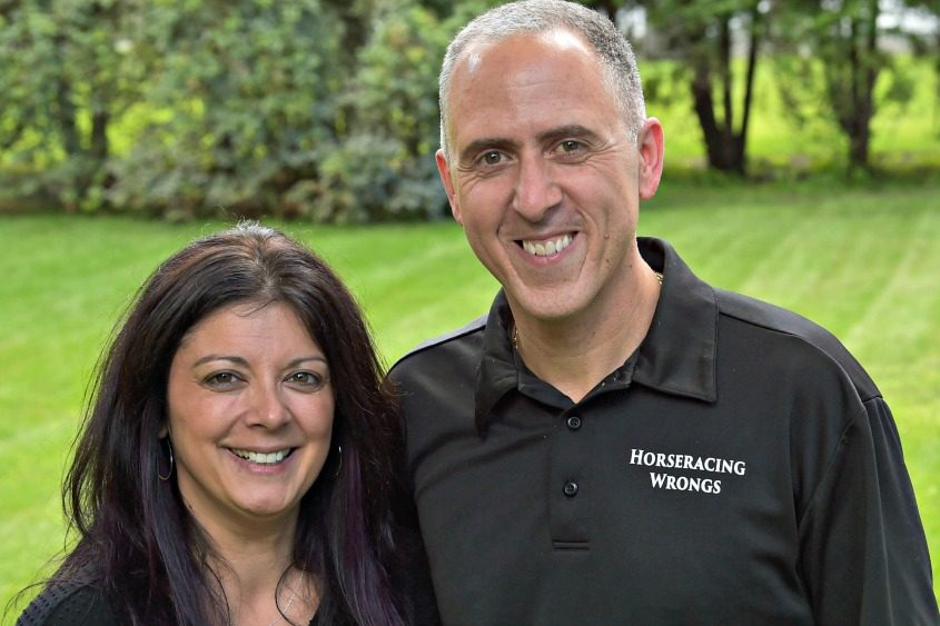 Nicole Arciello and Patrick Battuello of Colonie are founders of the group Horseracing Wrongs.