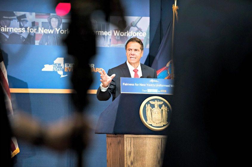 Gov. Andrew Cuomo speaks in Manhattan on July 20, 2017.