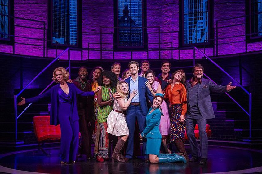 """Aaron Tveit as Bobby (center) and the cast of """"Company."""""""