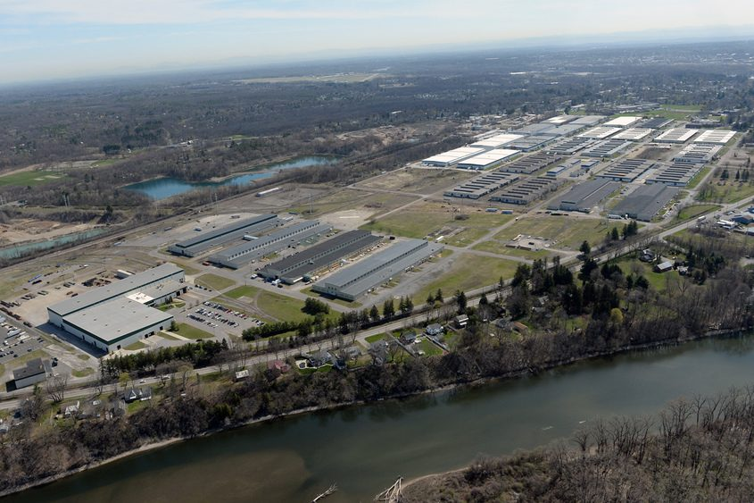An aerial view of the Glenville Business and Technology Park.