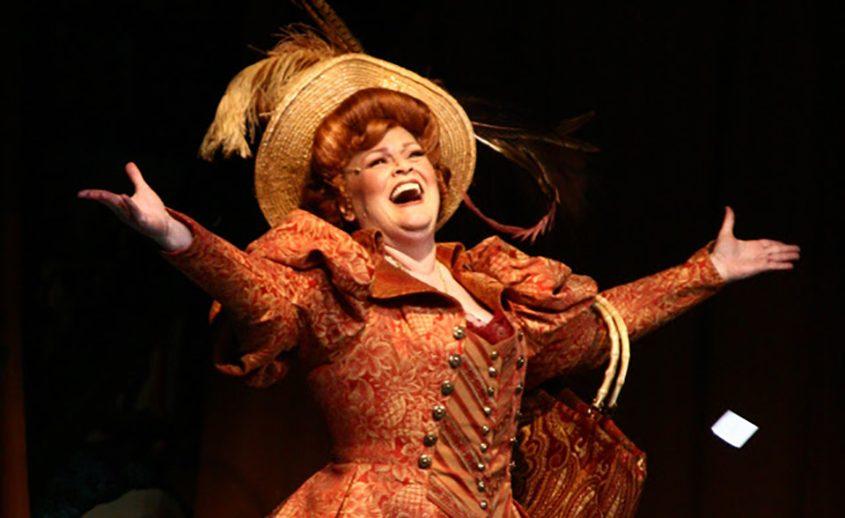 "Monica M. Wemitt as Dolly Gallagher Levi in ""Hello Dolly!"""