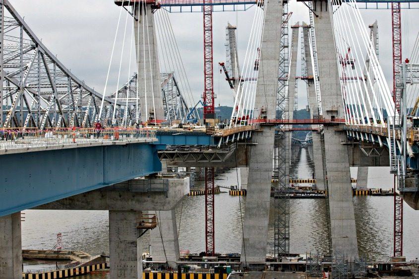 The new Mario Cuomo Bridge, shot in May 2017