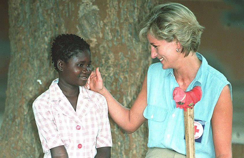 Diana, Princess of Wales, with Sandra Tigica, 13, in Angola in January 1997, seven months before her death.