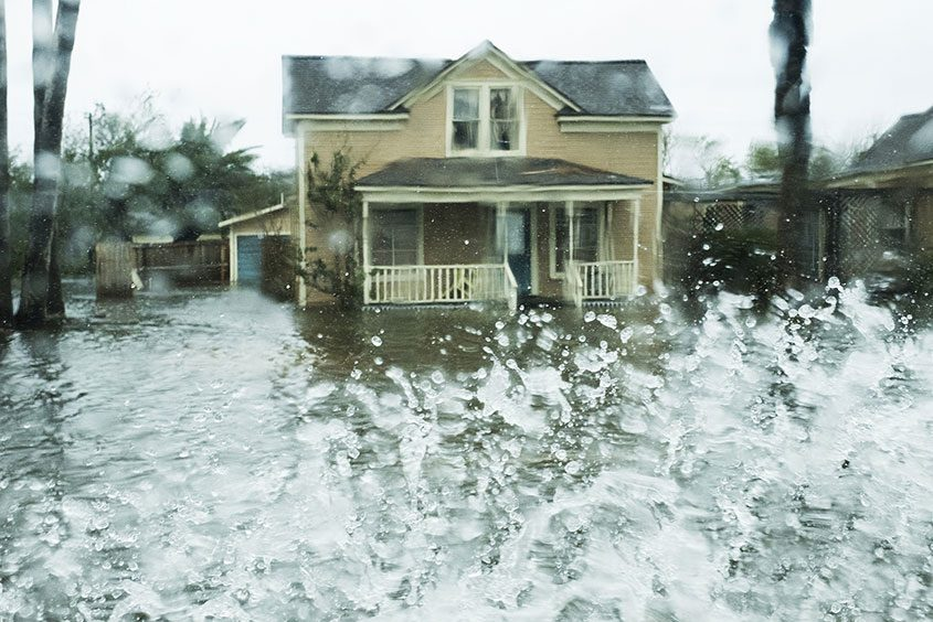 Flooding is seen after Hurricane Harvey hit Rockport, Texas, on Aug. 26, 2017.