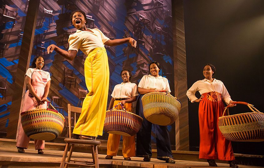 "Cynthia Erivo and the cast of ""The Color Purple"" on Broadway."